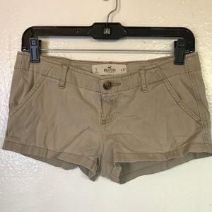 Khaki Hollister shorts